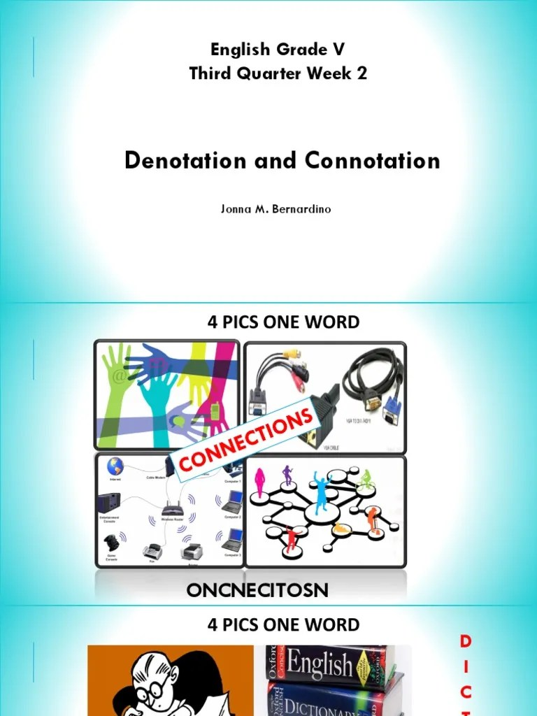 hight resolution of PPT COT Connotation and Denotation   Light   Sound