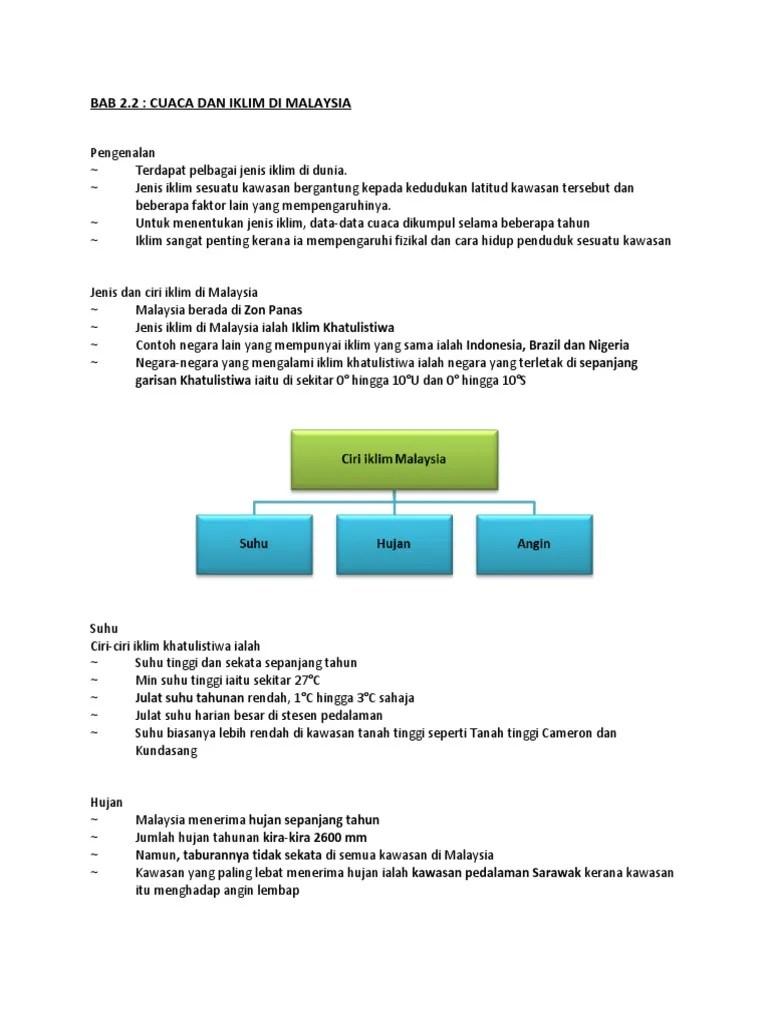 3 Jenis Iklim Di Indonesia : jenis, iklim, indonesia, Cuaca, Iklim, Malaysia, (1).Doc