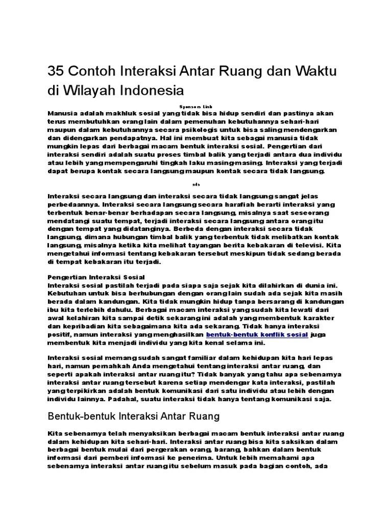 Contoh Interaksi Antar Ruang Di Indonesia : contoh, interaksi, antar, ruang, indonesia, Contoh, Interaksi, Antar, Ruang, Waktu, Wilayah, Indonesia.docx