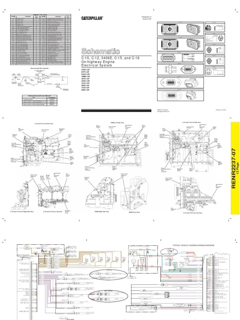 kenworth wiring diagrams 1972 ford f100 alternator diagram diagrama electrico caterpillar 3406e c10 & c12 c15 c16[2]