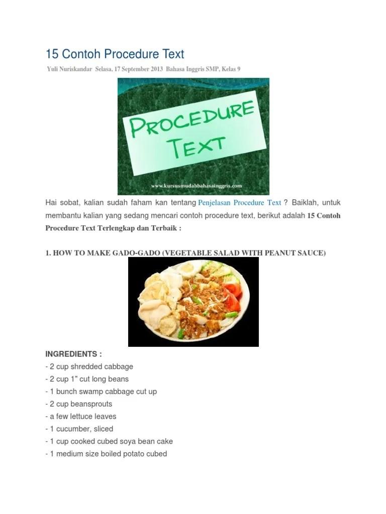 Contoh Procedure Text | Pharm USA