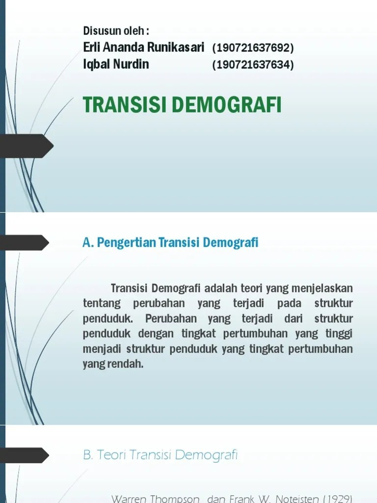 Pengertian Transisi : pengertian, transisi, Analisis, Demografi