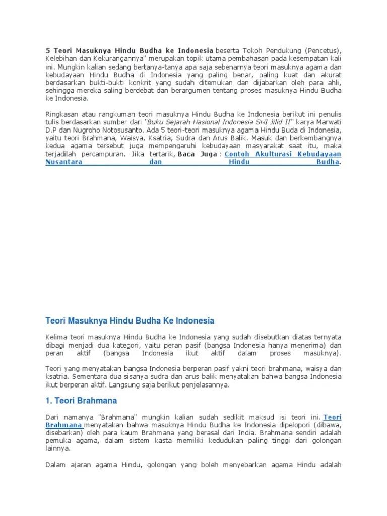 Kelebihan Dan Kekurangan Teori Masuknya Hindu Budha : kelebihan, kekurangan, teori, masuknya, hindu, budha, Teori, Masuknya, Hindu, Budha, Indonesia