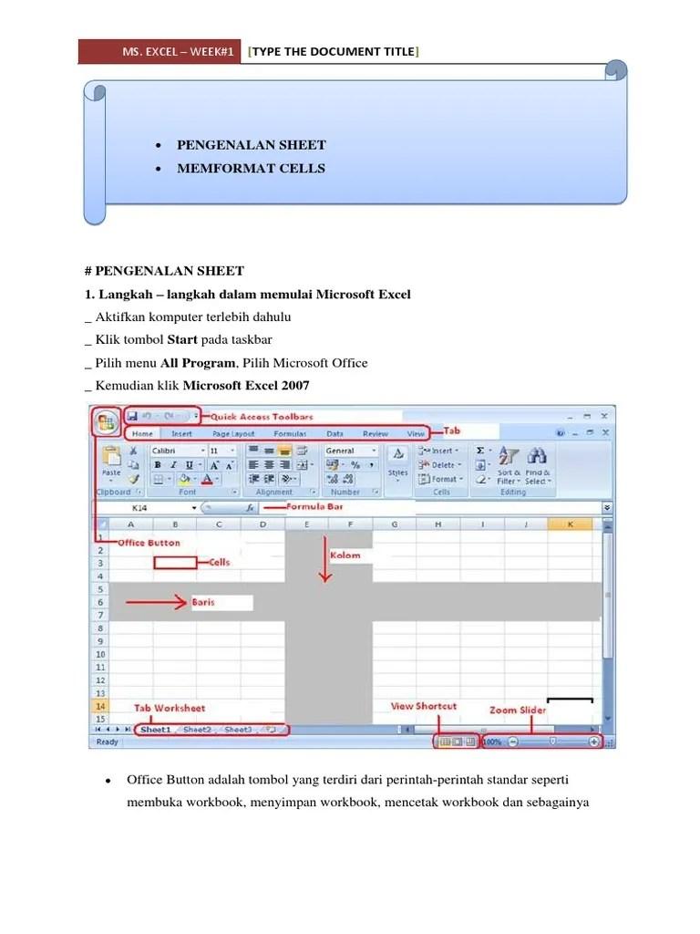 Shortcut Excel Pindah Sheet : shortcut, excel, pindah, sheet, Document, Title:, Excel, Week#1