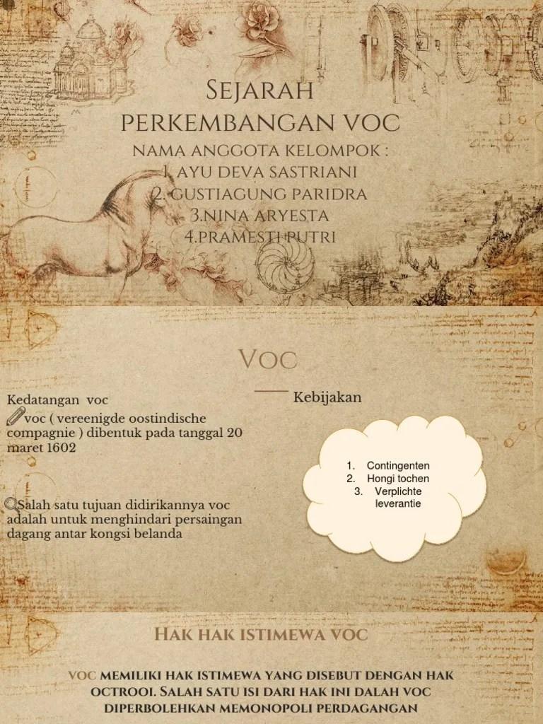 Hak Istimewa Voc : istimewa, Sejarah, Perkembangan, Vision