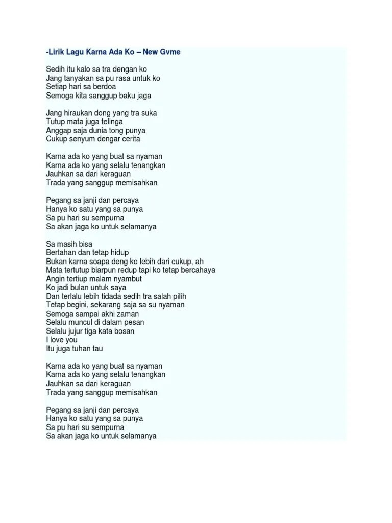 Lirik Lagu Baku Jaga : lirik, Microsoft, Document.docx