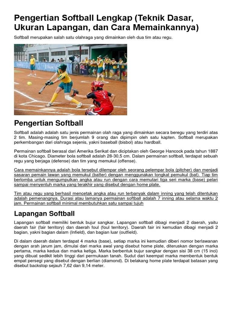 Pengertian Inning Dalam Permainan Softball : pengertian, inning, dalam, permainan, softball, Pengertian, Inning