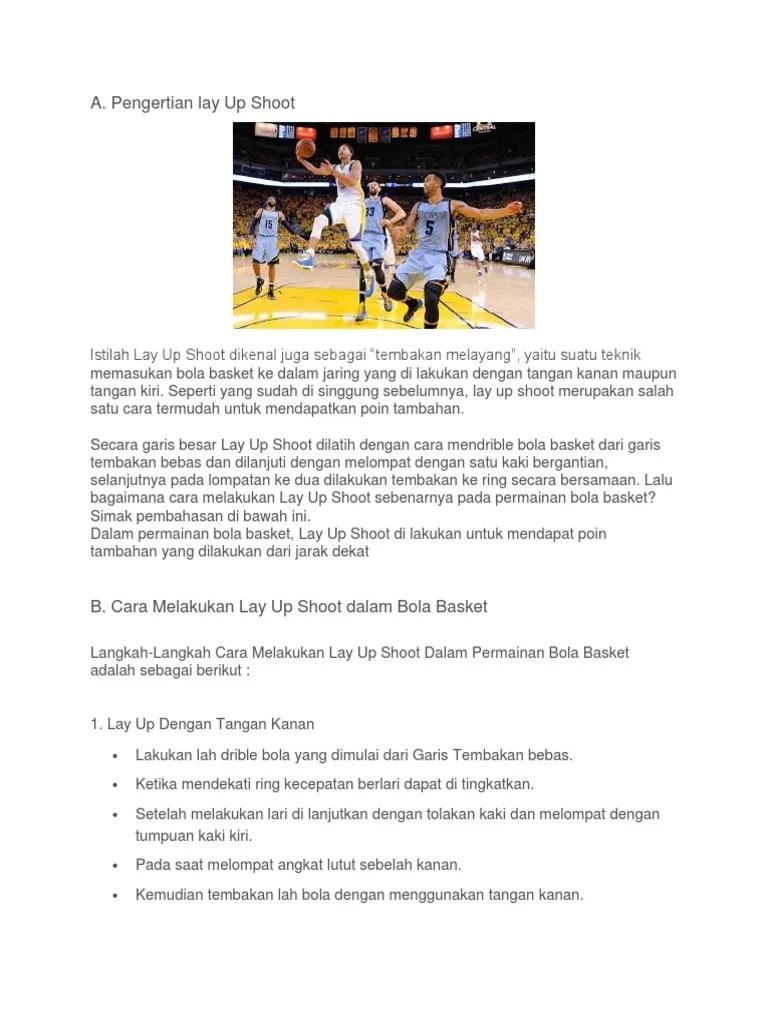 Lay Up Shoot Dalam Bola Basket : shoot, dalam, basket, Basket