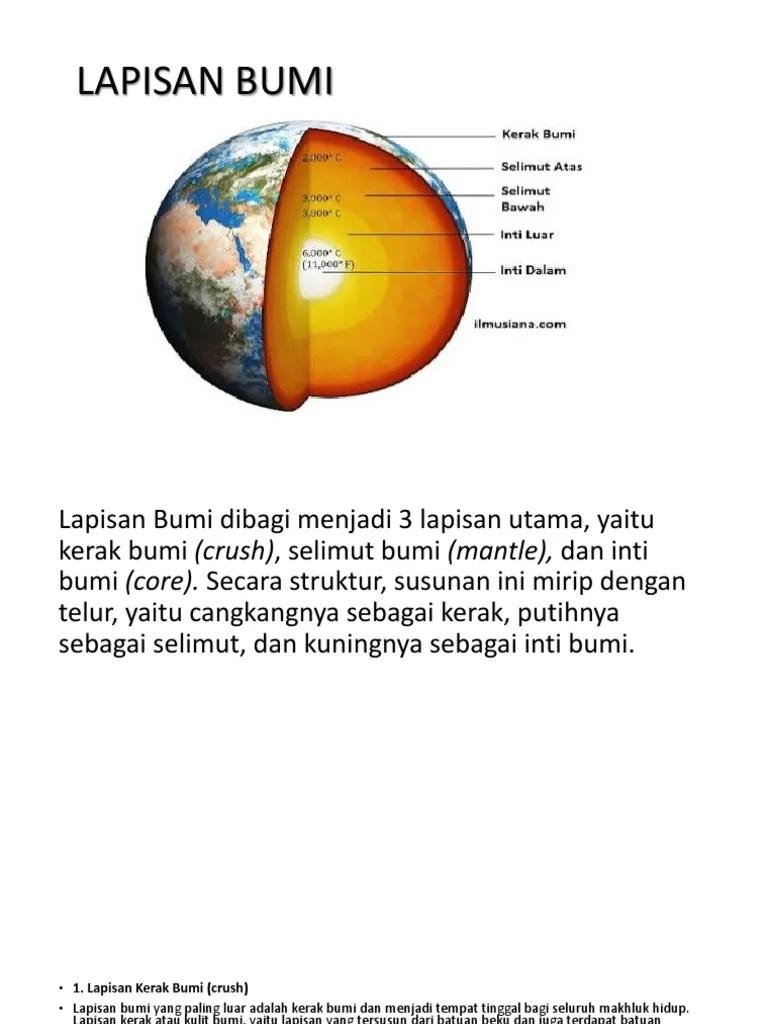 Lapisan Bumi Paling Dalam : lapisan, paling, dalam, Tugas