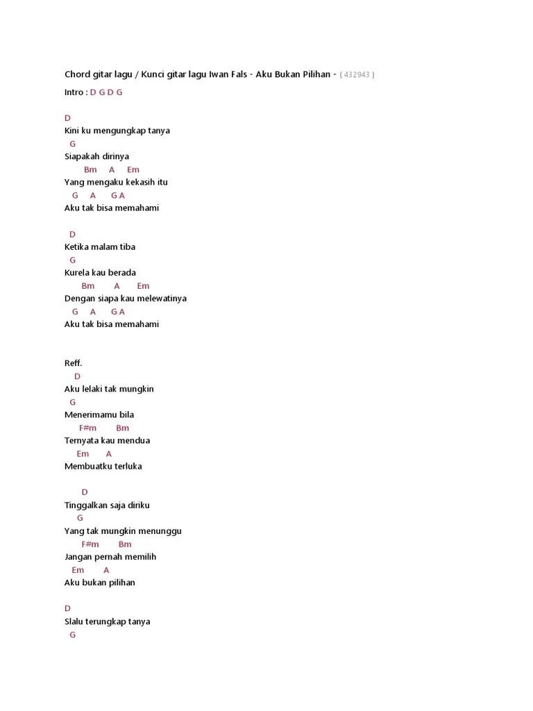 Chord Kisah Sedih Dihari Minggu : chord, kisah, sedih, dihari, minggu, Kunci, Gitar, Sabtu, Malam, Sendiri, Dalam