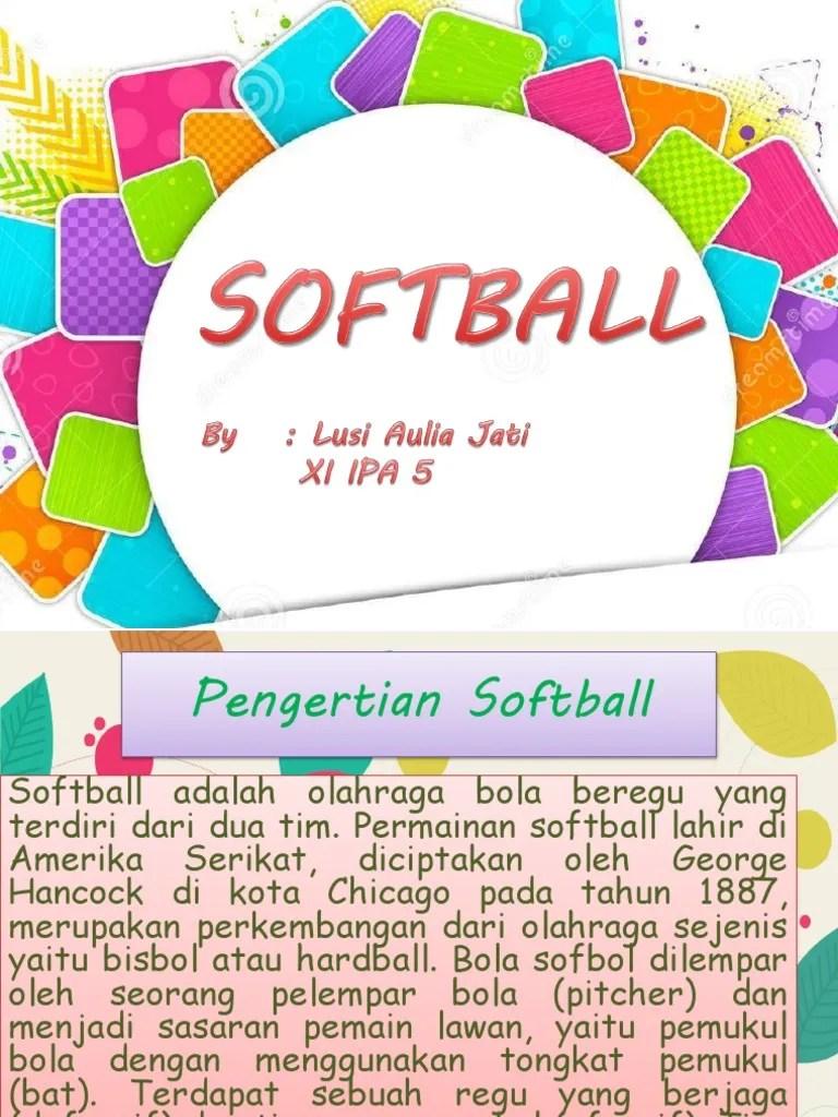 Pengertian Softball : pengertian, softball, Pengertian, Softball