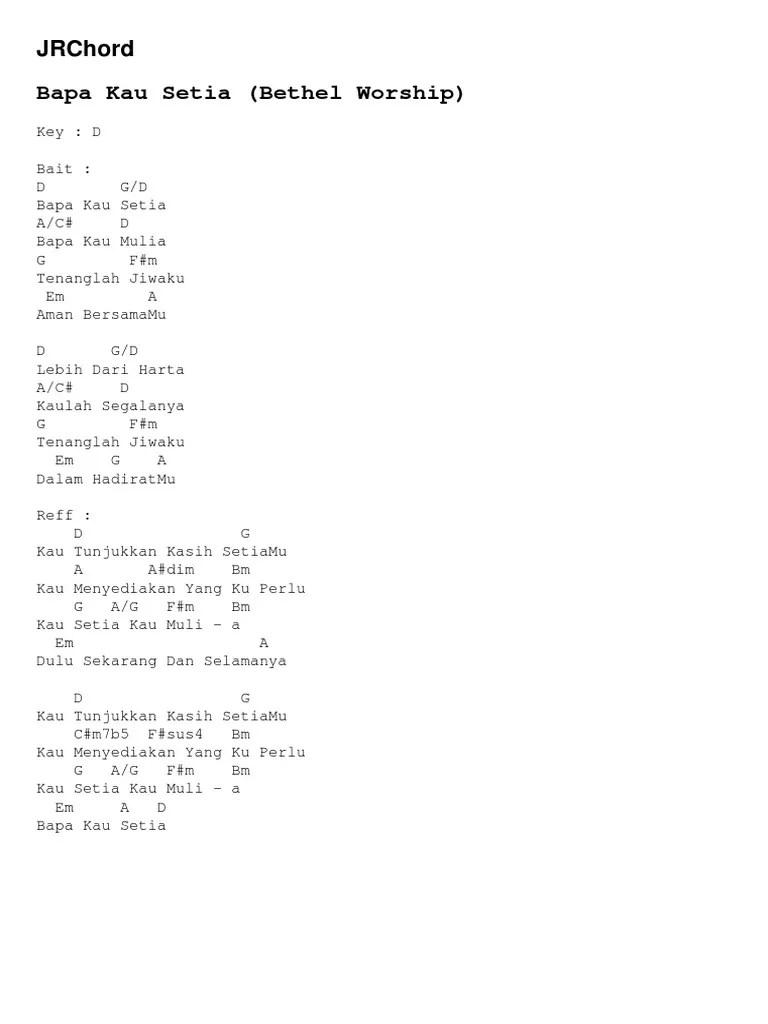 Lirik & Chord Lagu Bapa Kau Setia - Sari Simorangkir