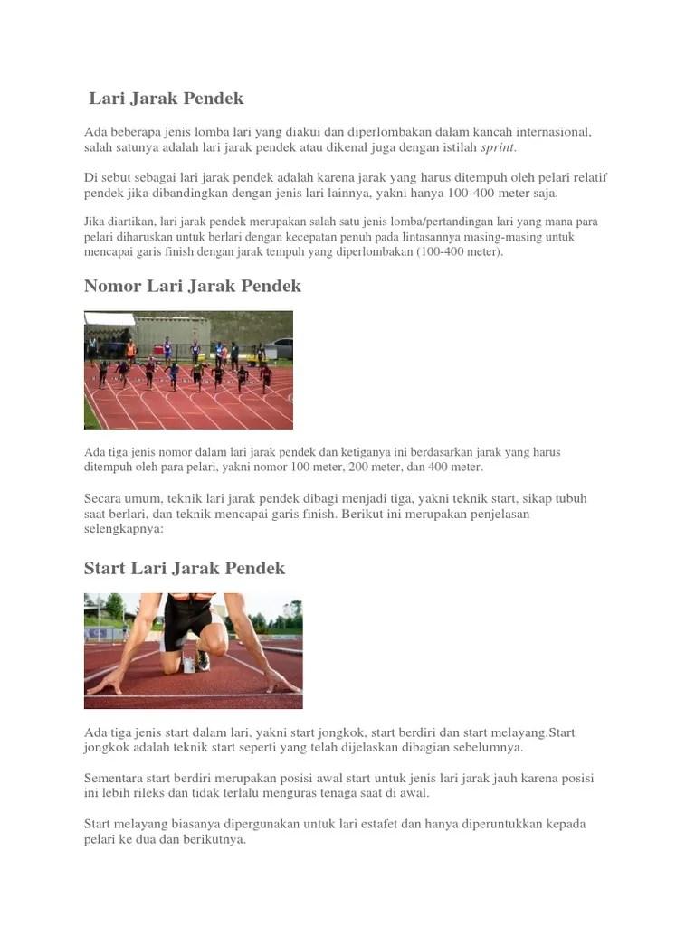 Posisi Tubuh Pelari Pada Saat Berlari Dalam Perlombaan Lari Cepat Jarak Pendek Adalah : posisi, tubuh, pelari, berlari, dalam, perlombaan, cepat, jarak, pendek, adalah, Jarak, Pendek