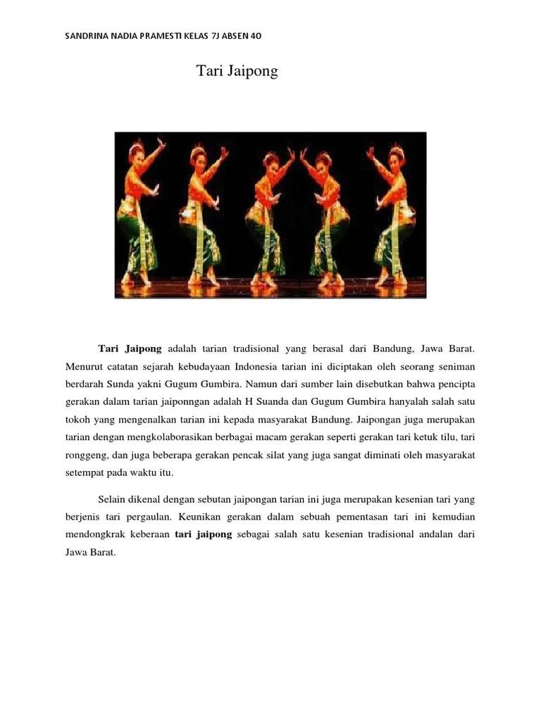 Keunikan Gerak Tari Jaipong : keunikan, gerak, jaipong, Tugas, Budaya
