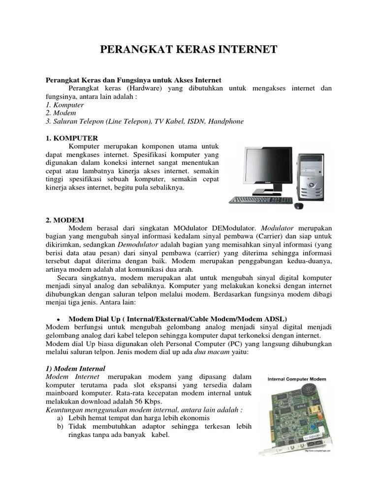 Perangkat Akses Internet Dan Fungsinya : perangkat, akses, internet, fungsinya, Perangkat, Keras, Internet