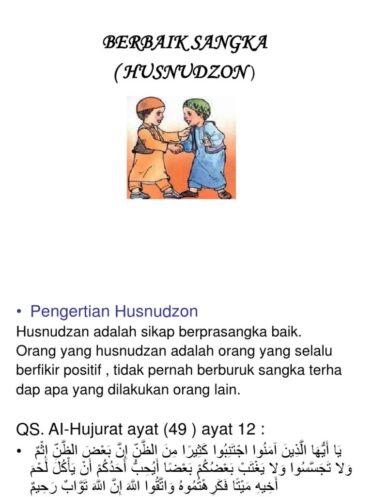 Husnudzon Adalah : husnudzon, adalah, HUSNUDZON.ppt