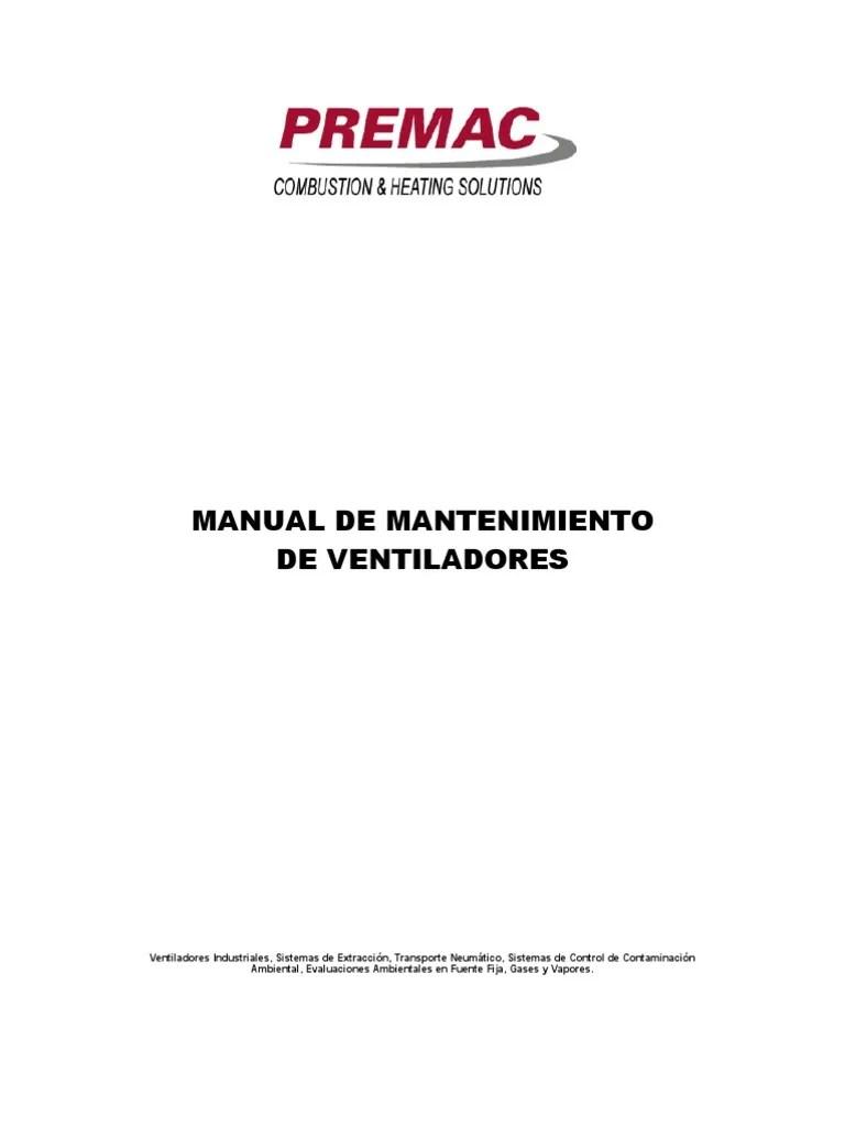 Manual de Mantenimiento de Ventiladores