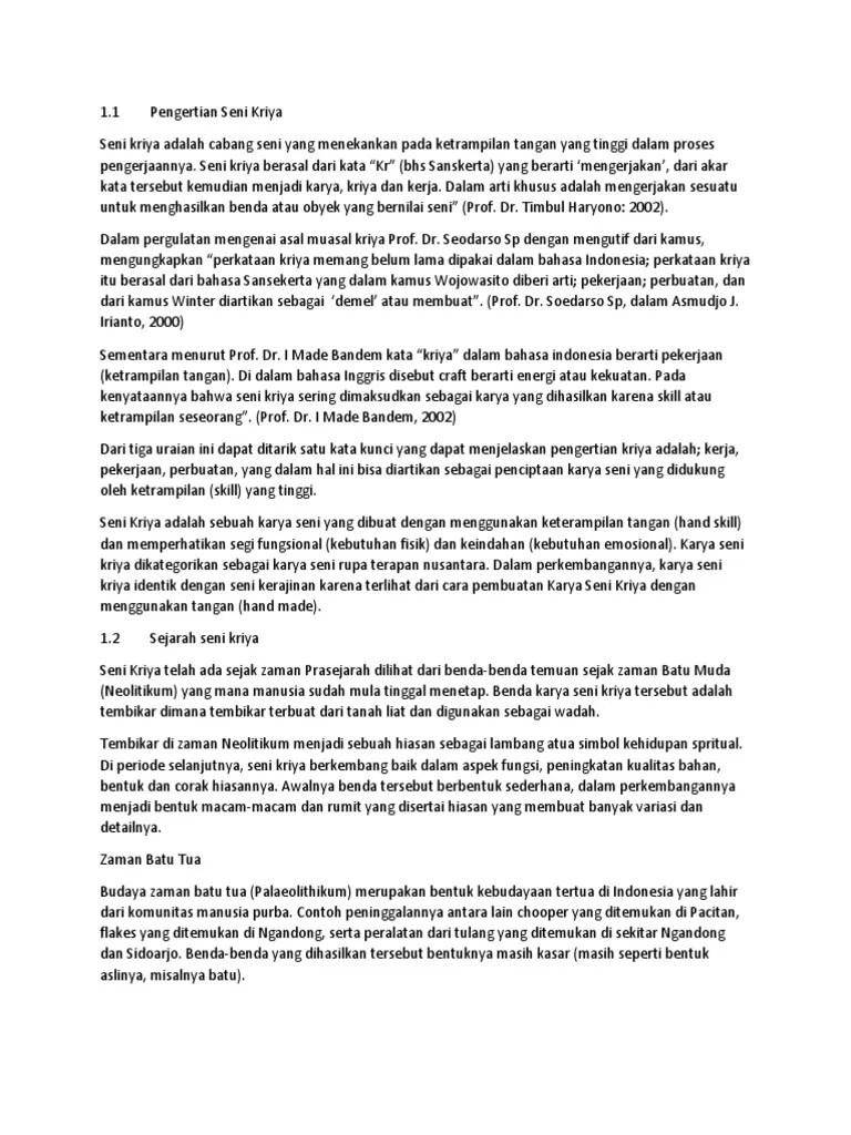 Cabang Cabang Seni Kriya : cabang, kriya, Artikel, Kriya