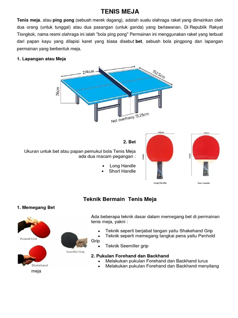 Cara Membuat Lapangan Tenis Meja : membuat, lapangan, tenis, Sarana, Prasarana, Tenis, Meja-2