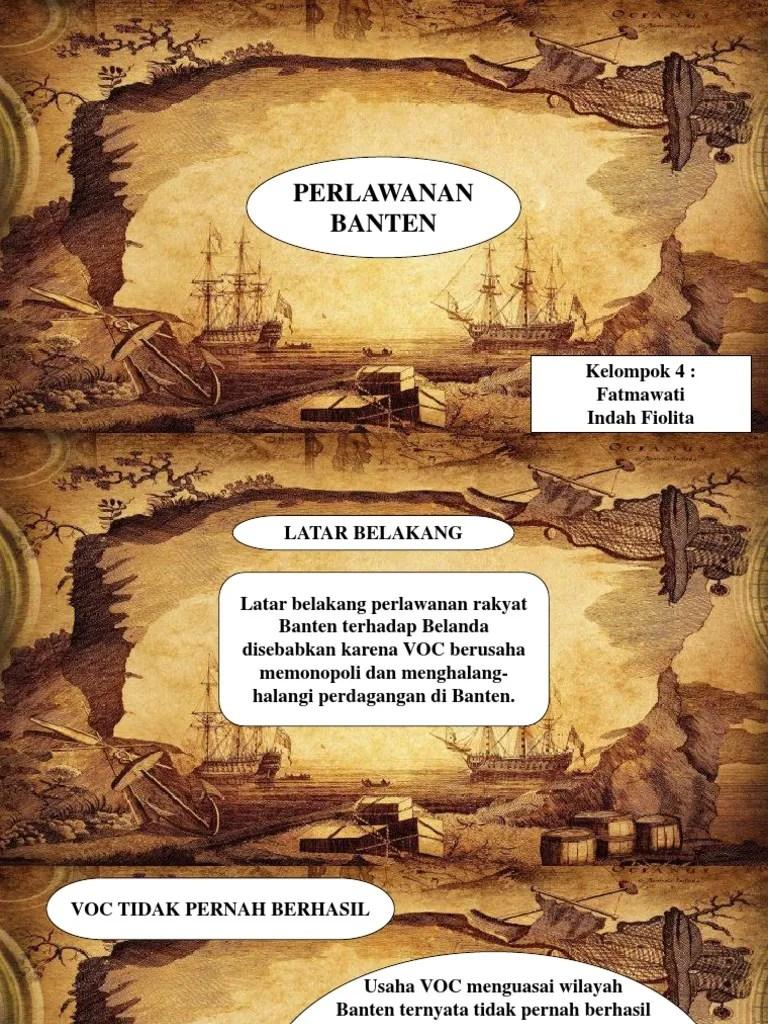 Perlawanan Rakyat Banten Terhadap Voc : perlawanan, rakyat, banten, terhadap, Presentasi, Sejarah, Indonesia, Peminatan_Perlawanan, Banten