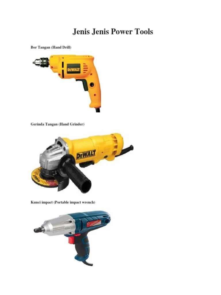 Jenis Jenis Power Tools : jenis, power, tools, Jenis, Power, Tools