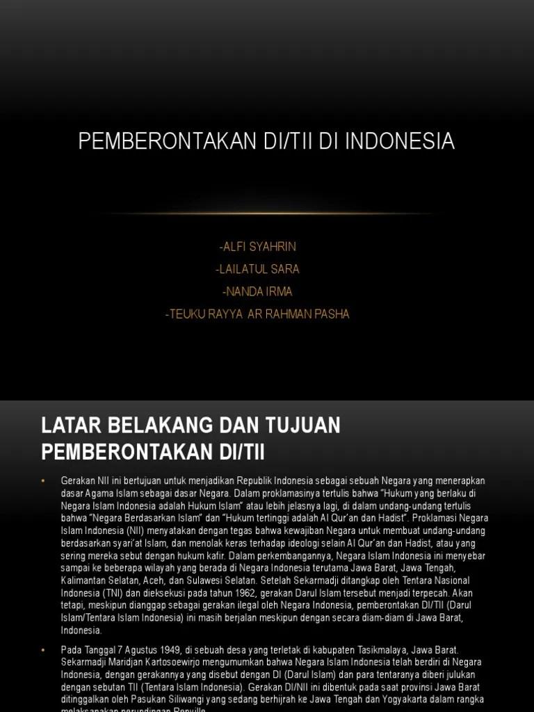 Latar Belakang Di/tii Jawa Tengah : latar, belakang, di/tii, tengah, SEJARAH, INDO.pptx