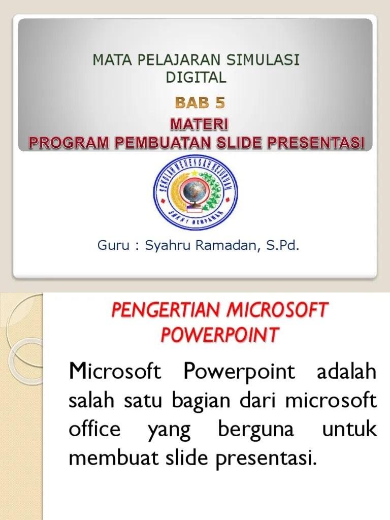 5 Contoh Program Presentasi : contoh, program, presentasi, Materi, Program, Pembuatan, Slide, Presentasi
