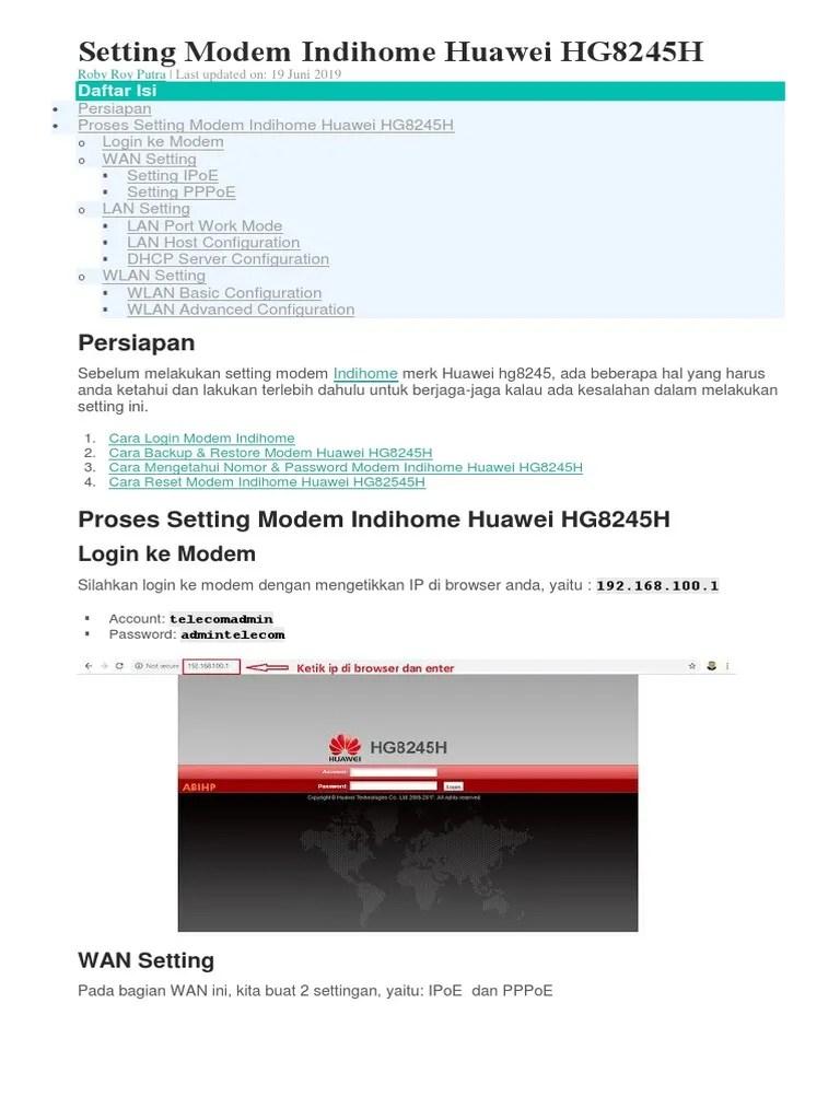 Reset Modem Indihome : reset, modem, indihome, Reset, Password, Modem, Huawei, Hg8245h