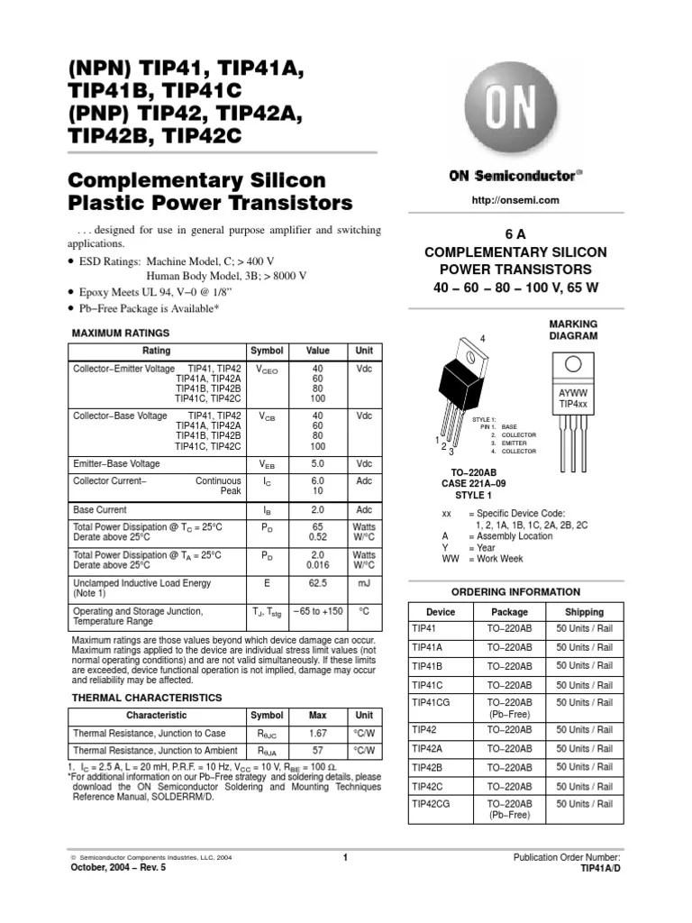hight resolution of tip41 tip42 amplifier diagram