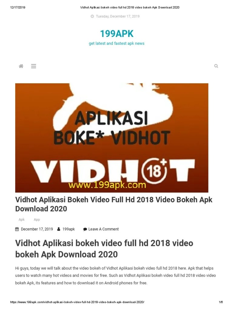 Vidhot Apk Download Pc : vidhot, download, Vidhot, Aplikasi, Bokeh, Video, Download, Consumer, Electronics, Smartphone