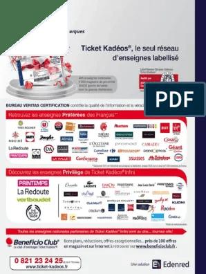 Ou Utiliser Ses Tickets Kadeos Infini : utiliser, tickets, kadeos, infini, Ticket, Kadeos, Infini, Enseignes