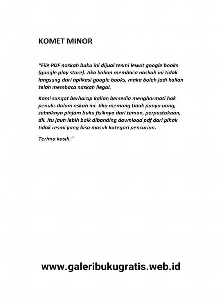 Download Novel Tere Liye Komet Minor Pdf : download, novel, komet, minor, Komet, Minor.pdf