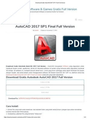 Download Autocad 2017 64 Bit Jalan Tikus : download, autocad, jalan, tikus, Download, Gratis, AutoCAD, Final, Version.pdf