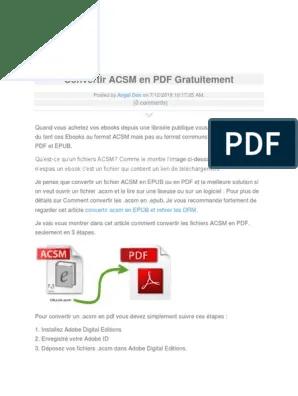 Convertir Un Fichier Epub En Pdf : convertir, fichier, Convertir, Gratuitement, Gestion, Droits, Numériques, Livres