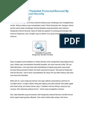 Cara Menghilangkan Virus Kaspersky Di Flashdisk : menghilangkan, virus, kaspersky, flashdisk, Mengatasi, Flashdisk, Protected