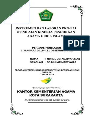 Instrumen Pkg 2019 : instrumen, Instrumen-PKG, PAI-2019+cover(MANUAL)