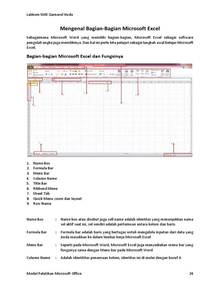 Gambar Lembar Kerja Microsoft Excel : gambar, lembar, kerja, microsoft, excel, 02_Modul, Microsoft, Excel