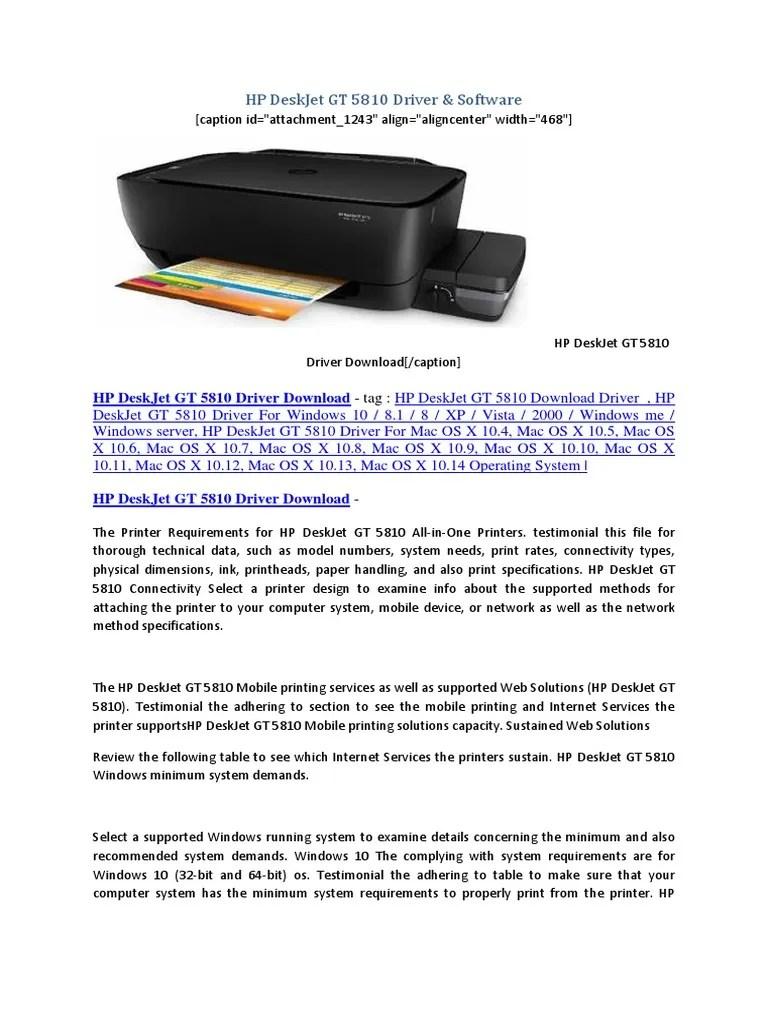 HP DeskJet GT 5810 Driver | HP Driver Download