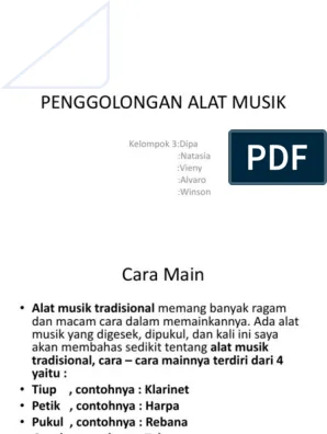 Penggolongan Alat Musik : penggolongan, musik, PENGGOLONGAN, MUSIK