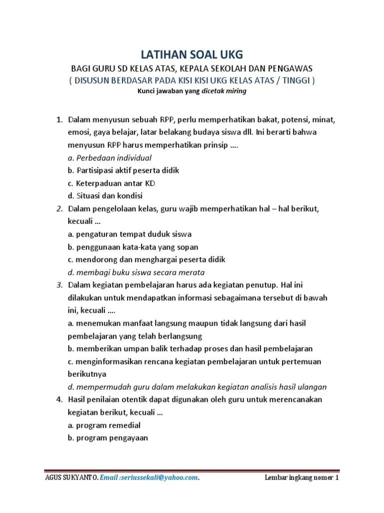 Download Contoh Soal Ukg Guru Sd : download, contoh, Kompetensi, Pretes, Dokter, Andalan