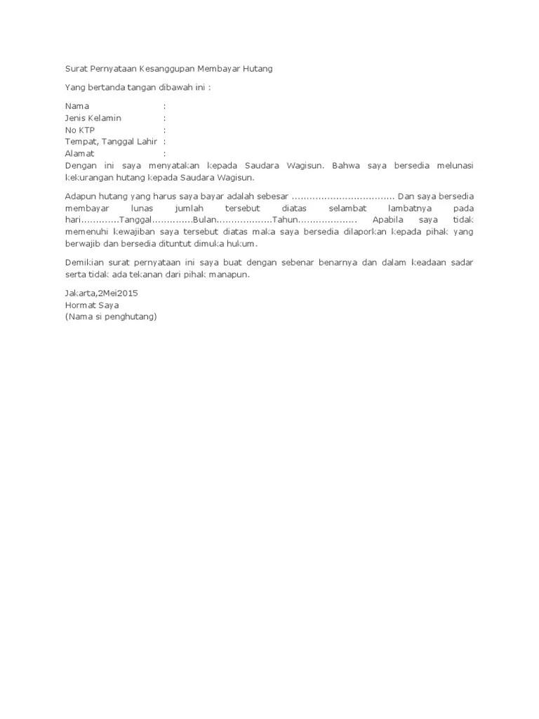 Surat Pernyataan Kesanggupan Membayar Hutang : surat, pernyataan, kesanggupan, membayar, hutang, 359597279-Surat-Pernyataan-Kesanggupan-Membayar-Hutang.docx