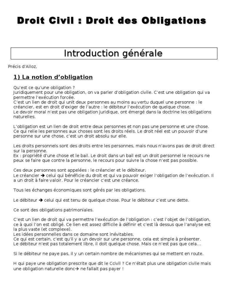 Fallait Pas Faire Du Droit : fallait, faire, droit, Droit, Civil, Obligations