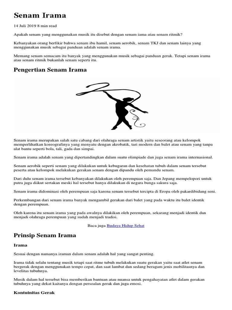 Senam Ritmik Menggunakan Alat : senam, ritmik, menggunakan, Senam, Irama