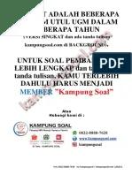 Soal Utul Ugm : TKDU+Psikotes, 2009-2020