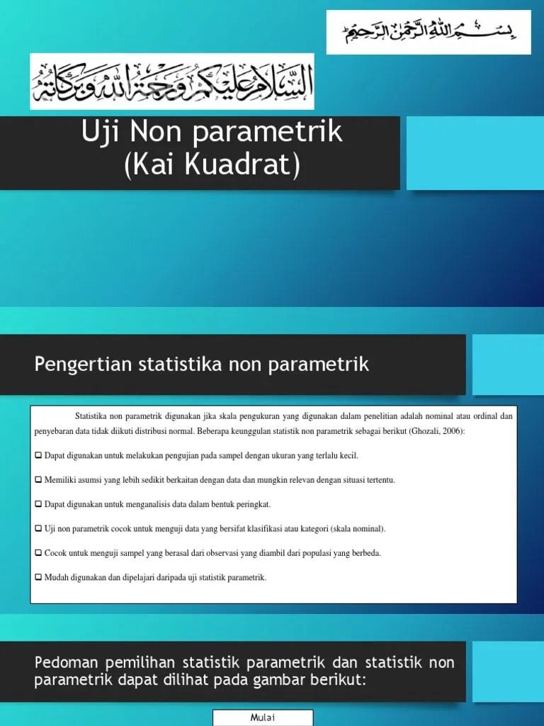 Uji Statistik Parametrik : statistik, parametrik, Nonparametrik, Revisi