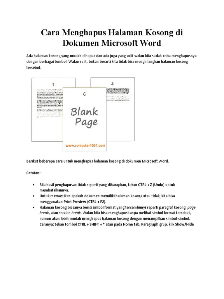 Cara Menghapus Word Kosong : menghapus, kosong, Menghapus, Halaman, Kosong, Dokumen, Microsoft, Word.docx