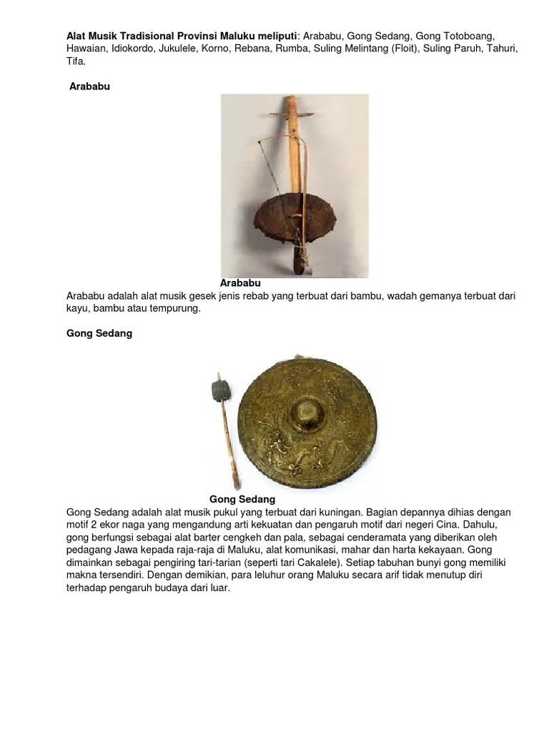 Alat Musik Idiokordo : musik, idiokordo, Musik, Tradisional, Provinsi, Maluku, Meliputi