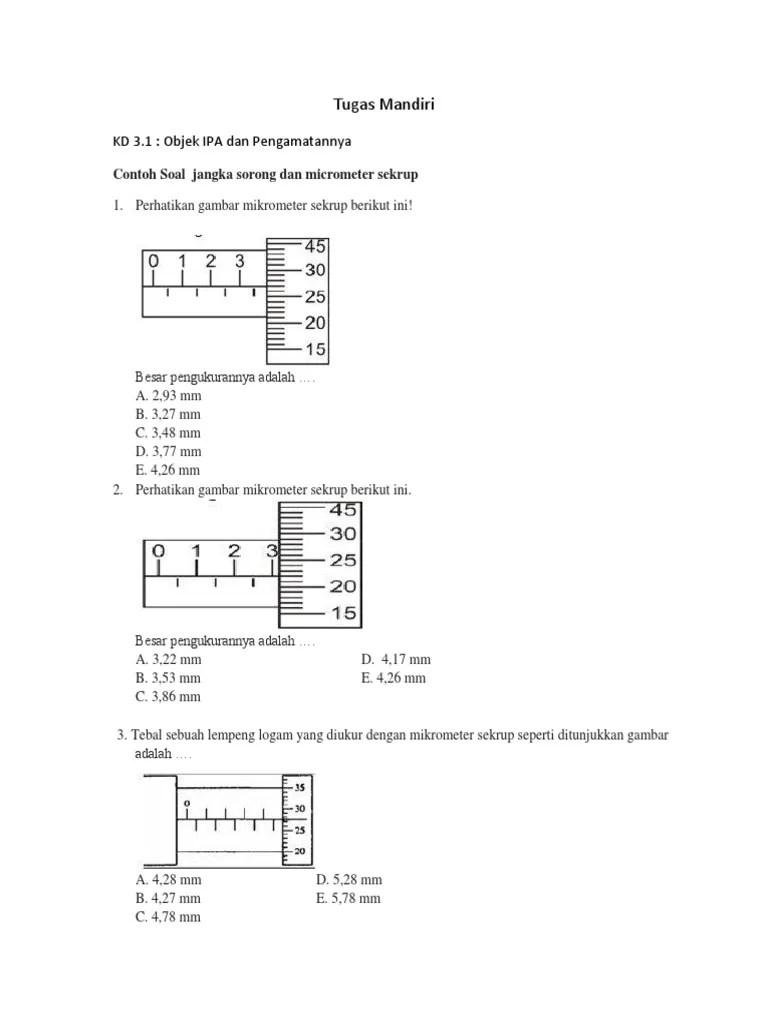 Contoh Soal Jangka Sorong Dan Mikrometer Sekrup : contoh, jangka, sorong, mikrometer, sekrup, Contoh, Jangka, Sorong.docx