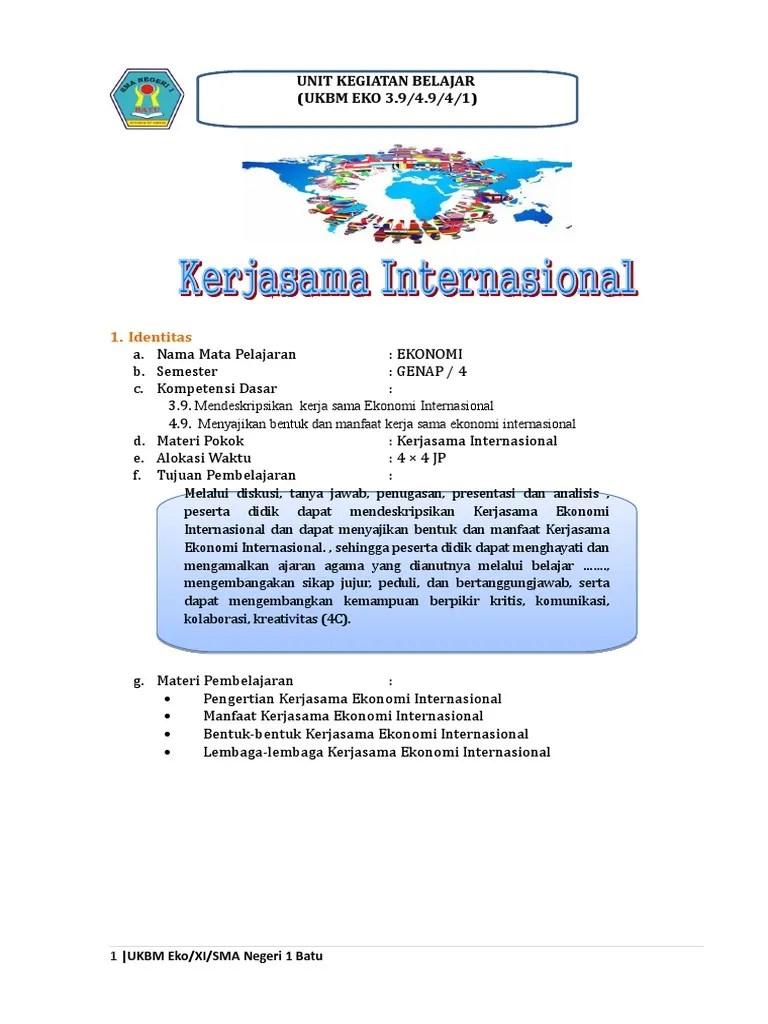 Bentuk Bentuk Kerjasama Ekonomi Internasional : bentuk, kerjasama, ekonomi, internasional, Kerjasama, Ekonomi, Internasional
