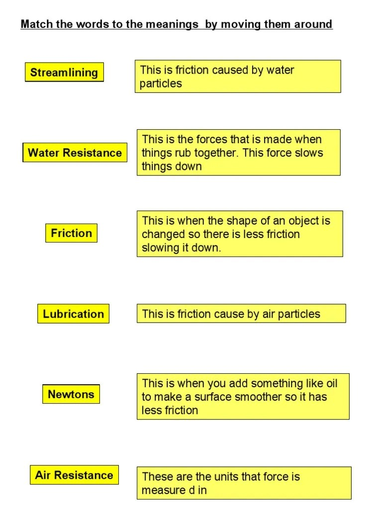 medium resolution of 1G Friction Worksheets   Friction   Force